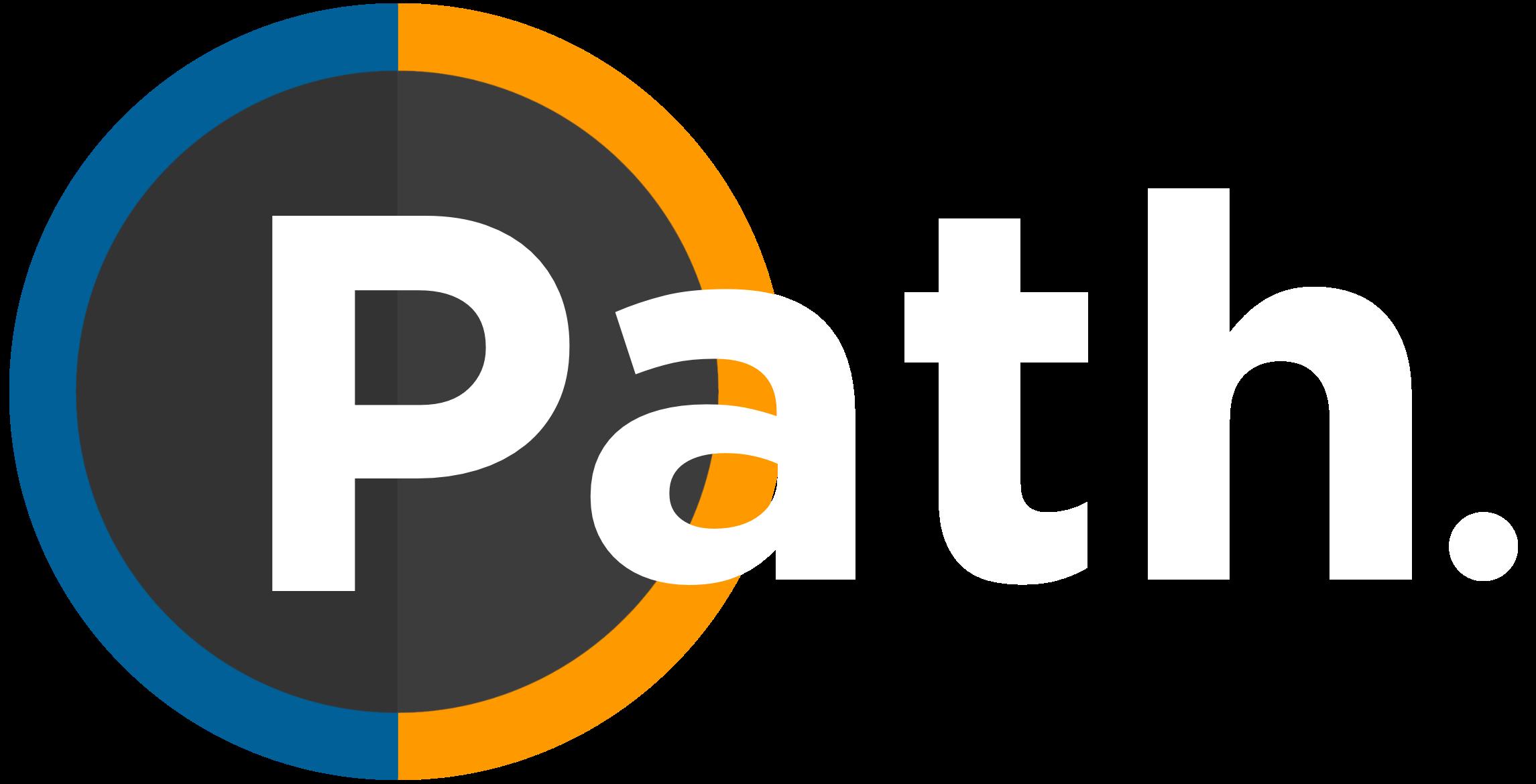 Path logo word dot